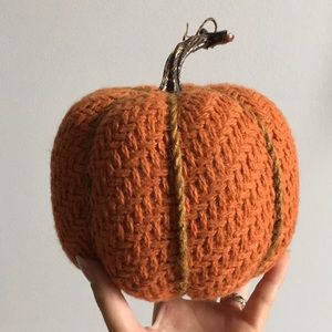 Pottery Barn Accents - Decorative Fabric Sweater Pumpkin